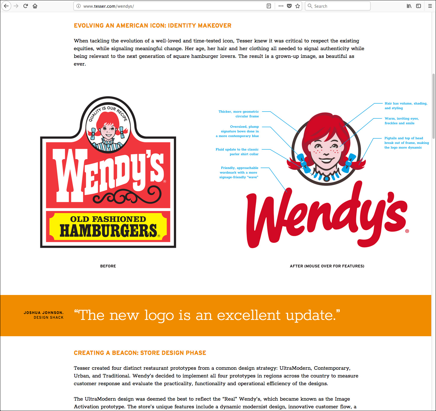 Wendy's work page