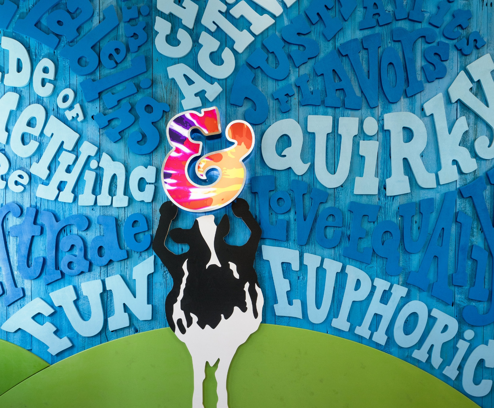 Ben & Jerry's  flagship store entry mural, Burlington, Vermont