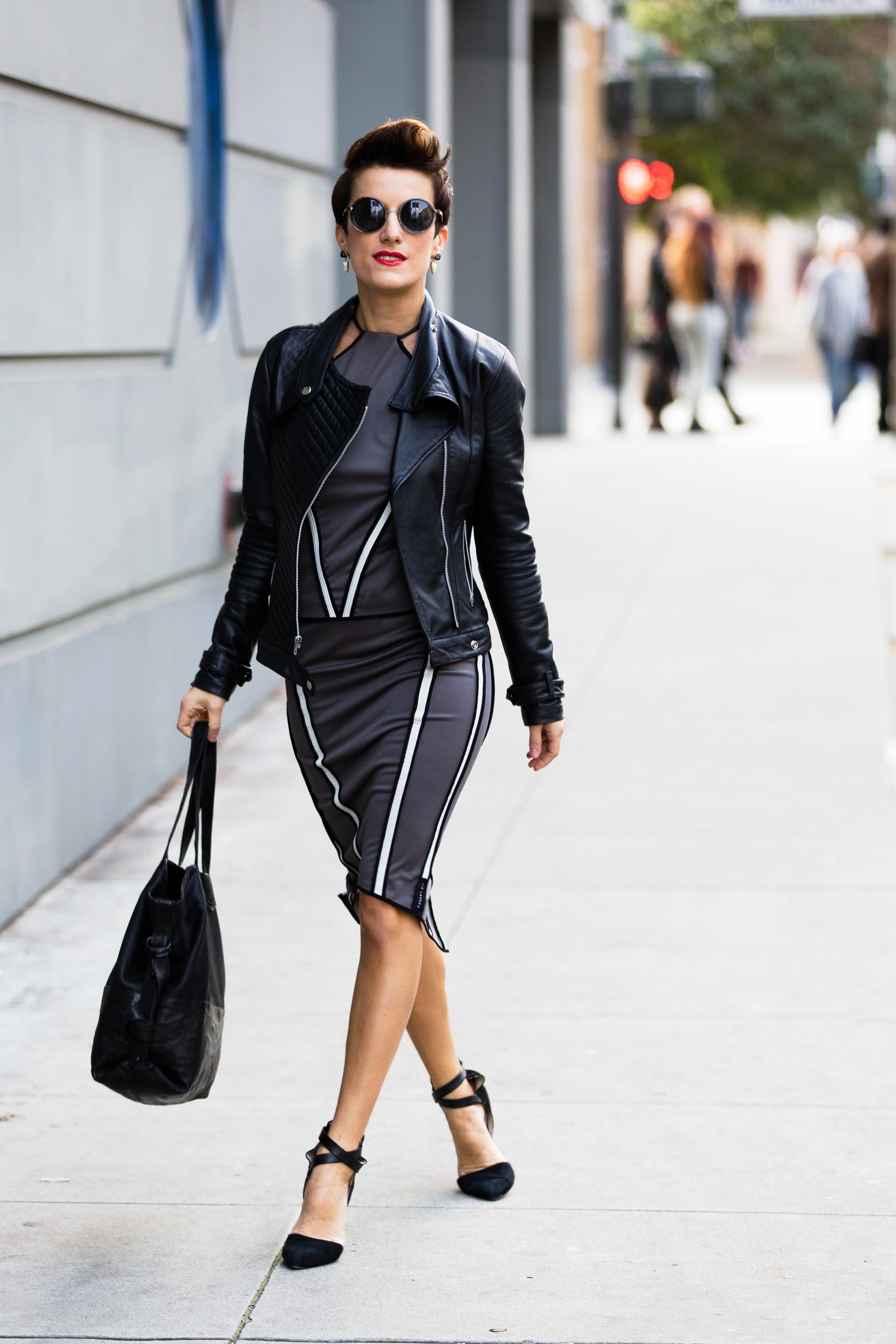 Zuria Halter Top,Brea Pencil Skirt (AW17) | Manhattan Tote Bag