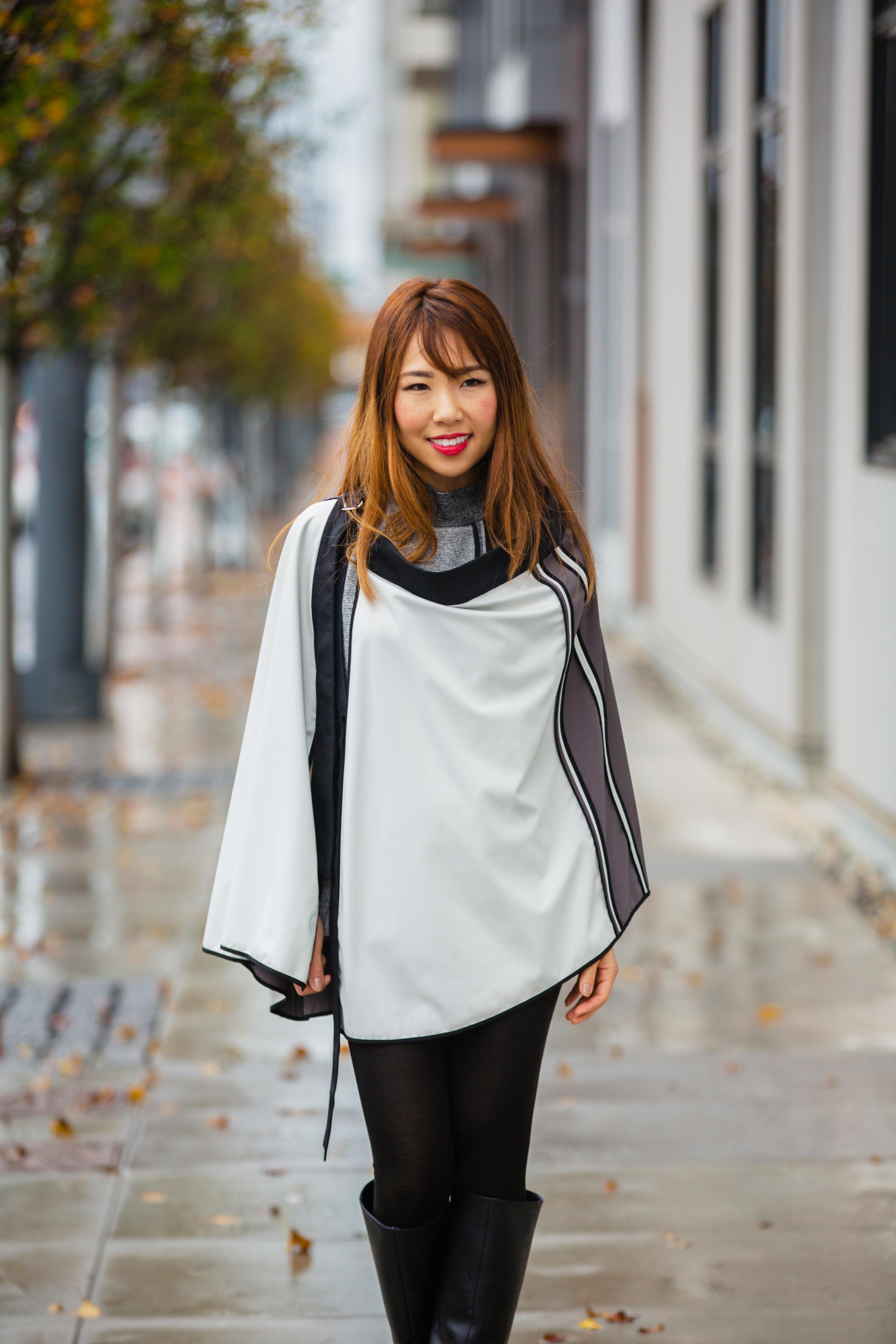 Convertible Skirt Cape (Reversible/Water Resistant)