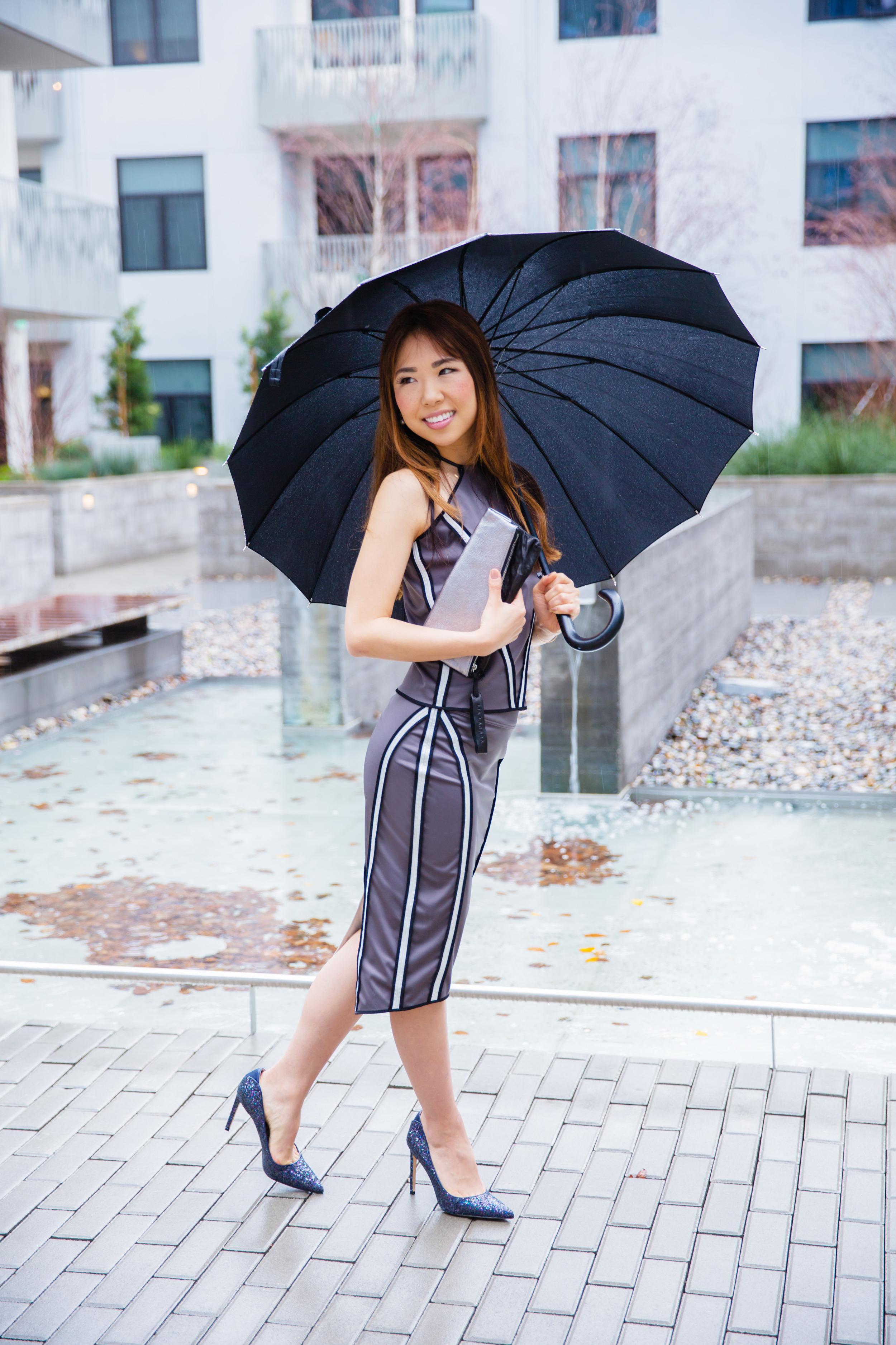AW16 Zuria HalterTop & Brea Pencil Skirt (Reversible/Water Resistant), Tara Clutch