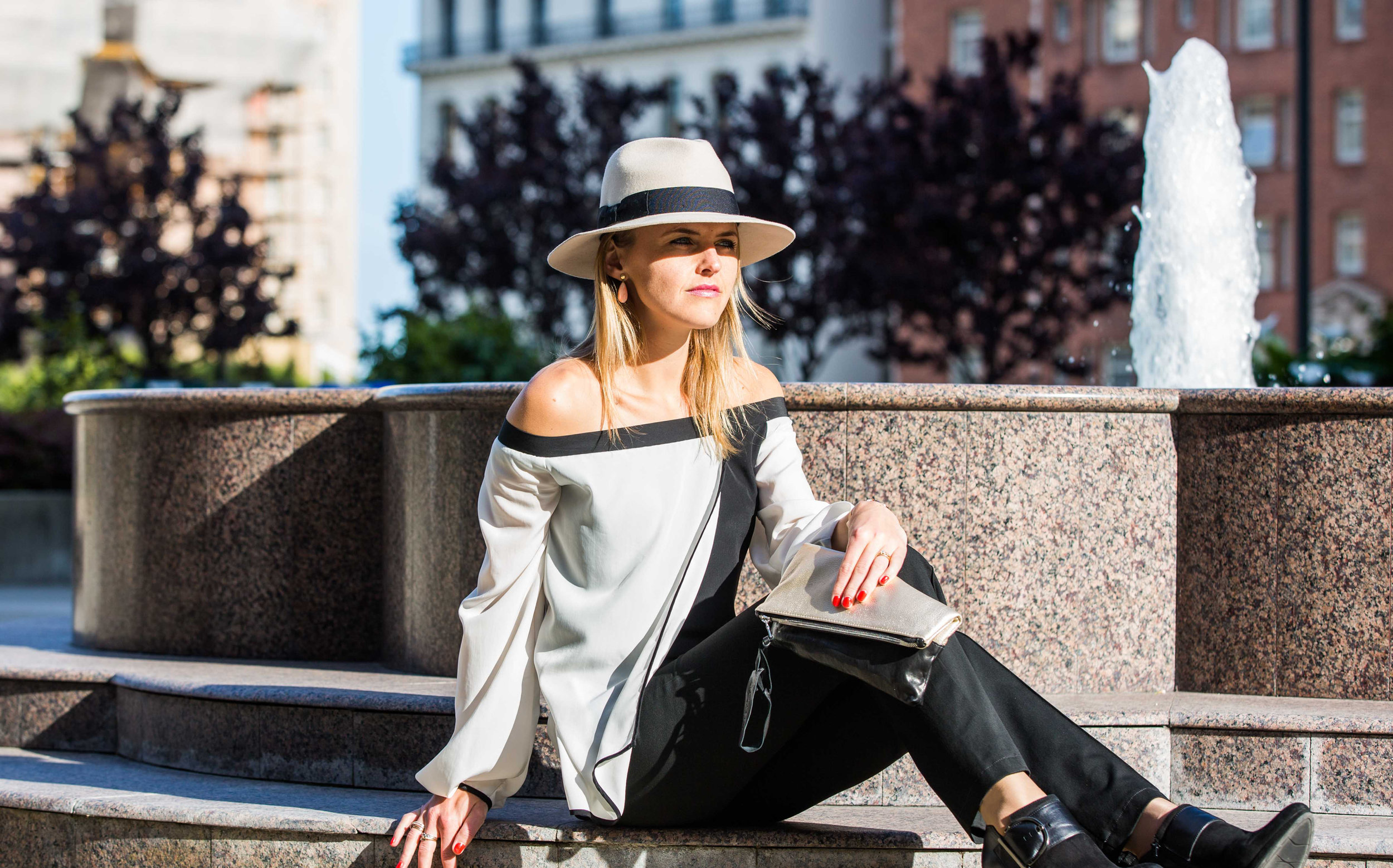 On Susanne -  Alex Hat  |  Alana Top  |  Tara Clutch
