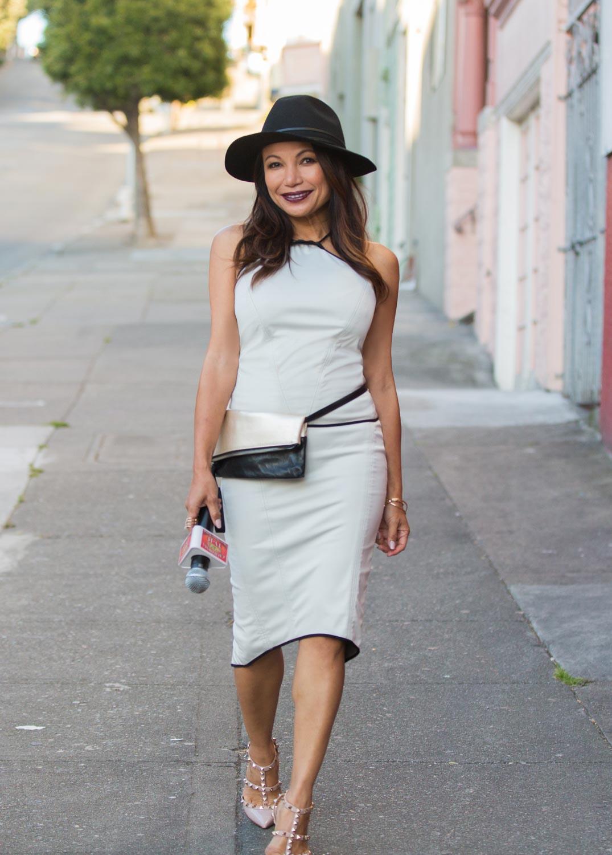 On Seline -  Zuria Top  |  Brea Pencil Skirt  |  Tara Clutch |  Rogue Hat