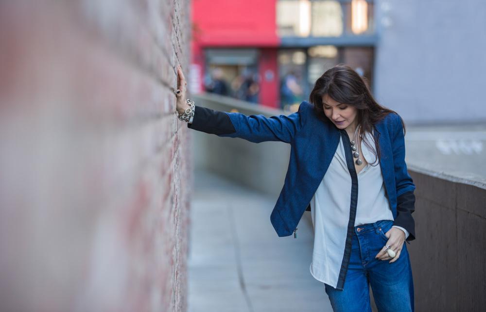 On Sasha -  Middleton Stripe Shirt  | City Jacket