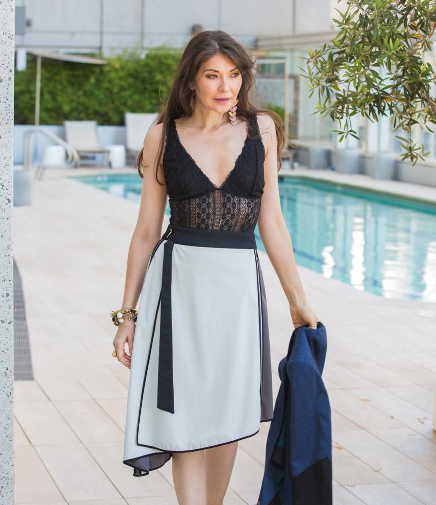 On Sasha - City Jacket |  Sofia Convertible Skirt