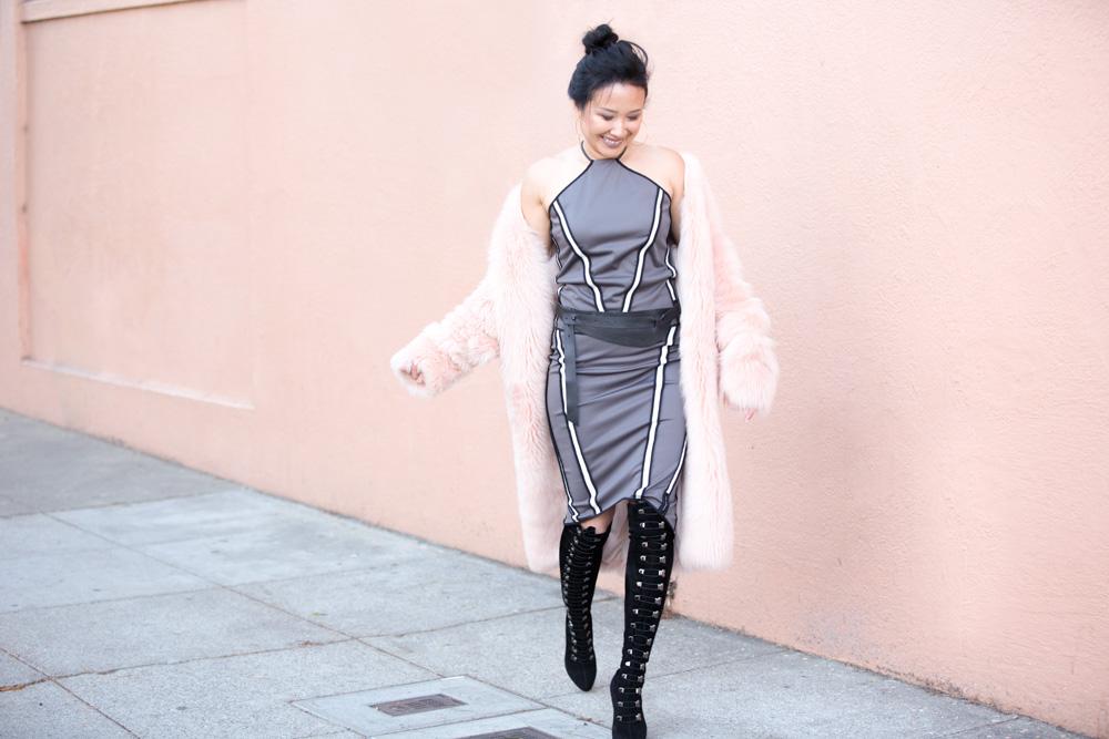 On Julie -  Zuria Reversible Halter Top | Brea Reversible Skirt  | Aya Belt