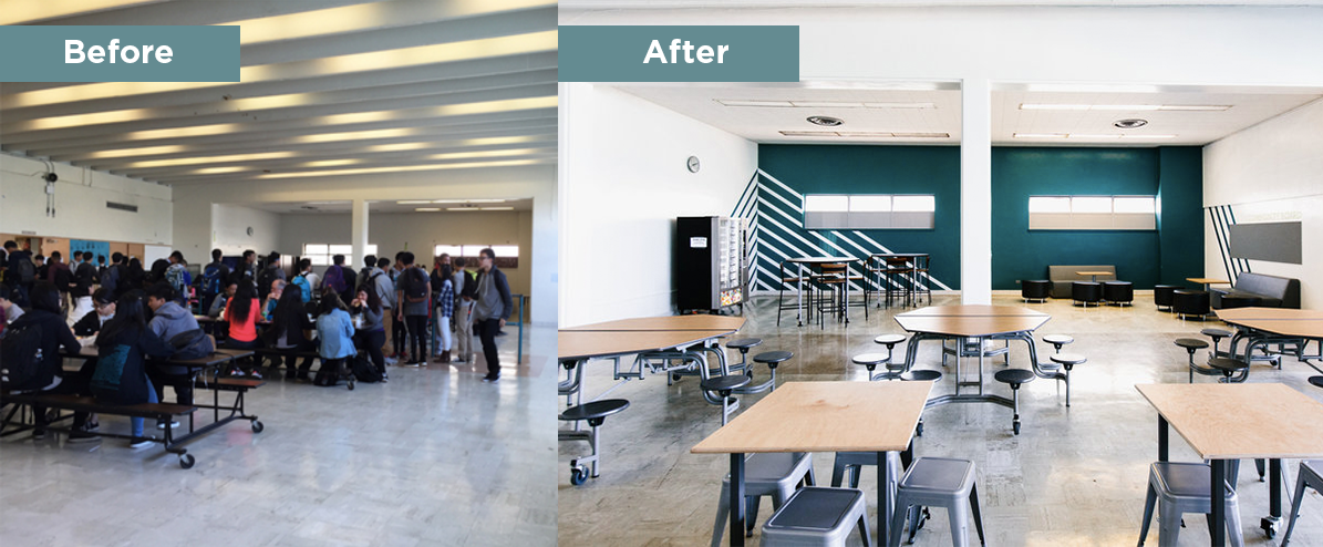 Burton High School's redesigned dining space
