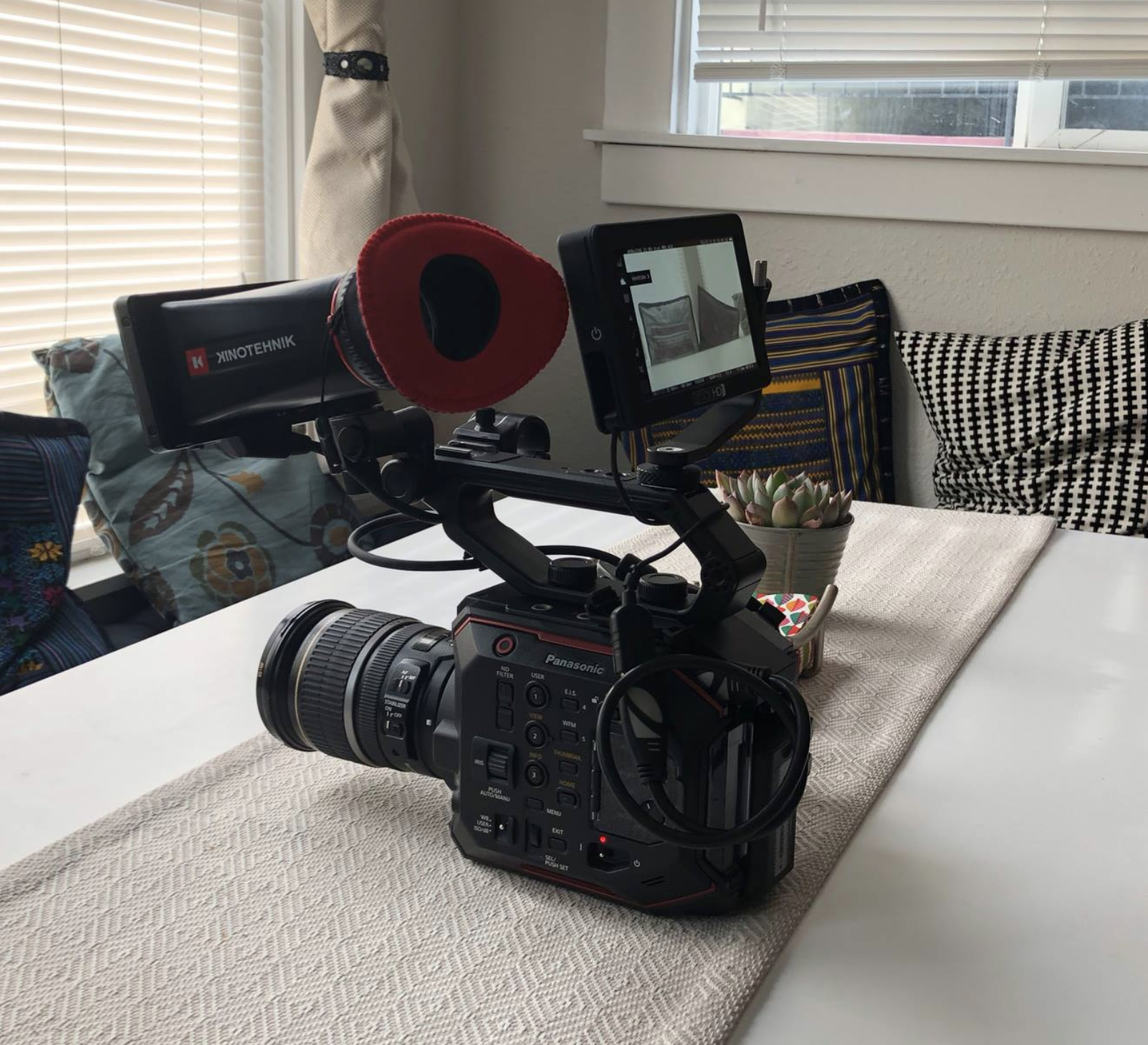 Stripped down EVA setup with a smallHD Focus monitor.