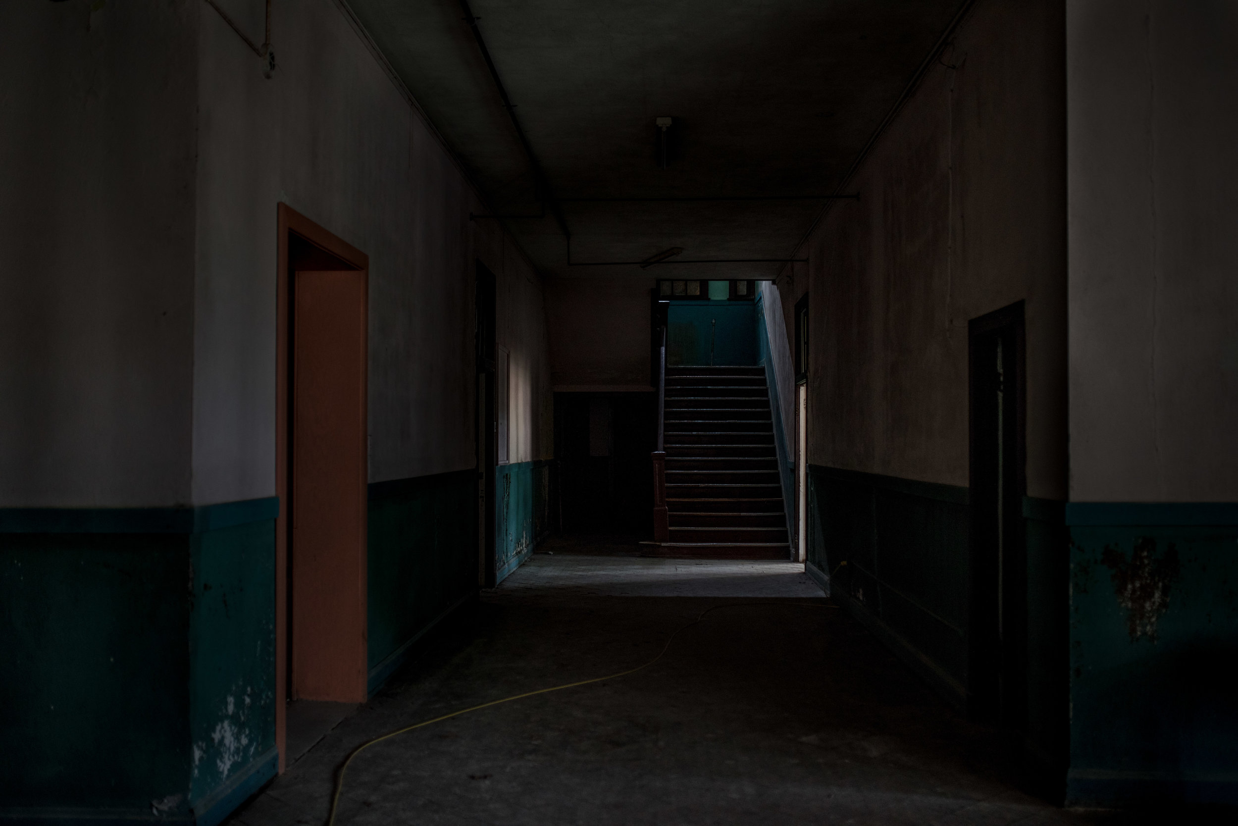 ABANDONED - WHERE HAVE THEY ALL GONE, THOSE WHO WALKED THESE HALLWAYS WHOSE LAUGHTER ONCE RUNG WITHIN THESE WALLS?