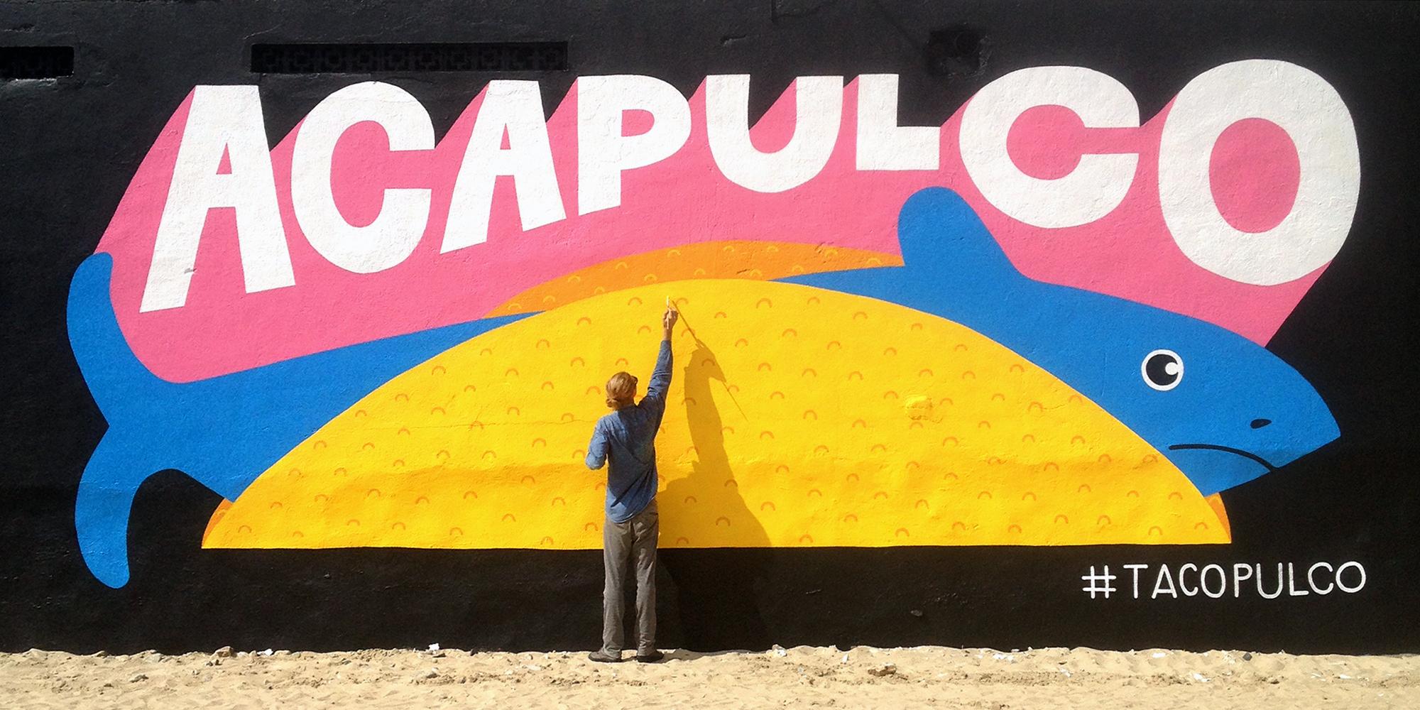 10 meter mural by Ruben de Haas for Muros Despiertos