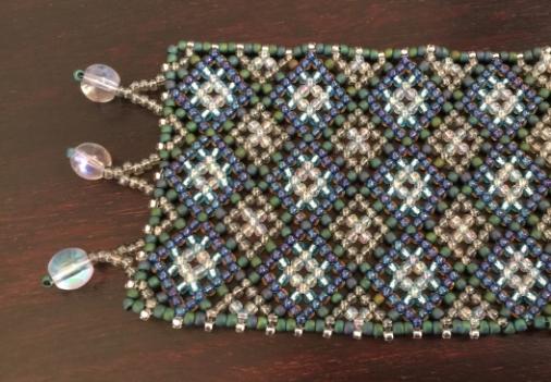 Pattern made with Toho seed beads