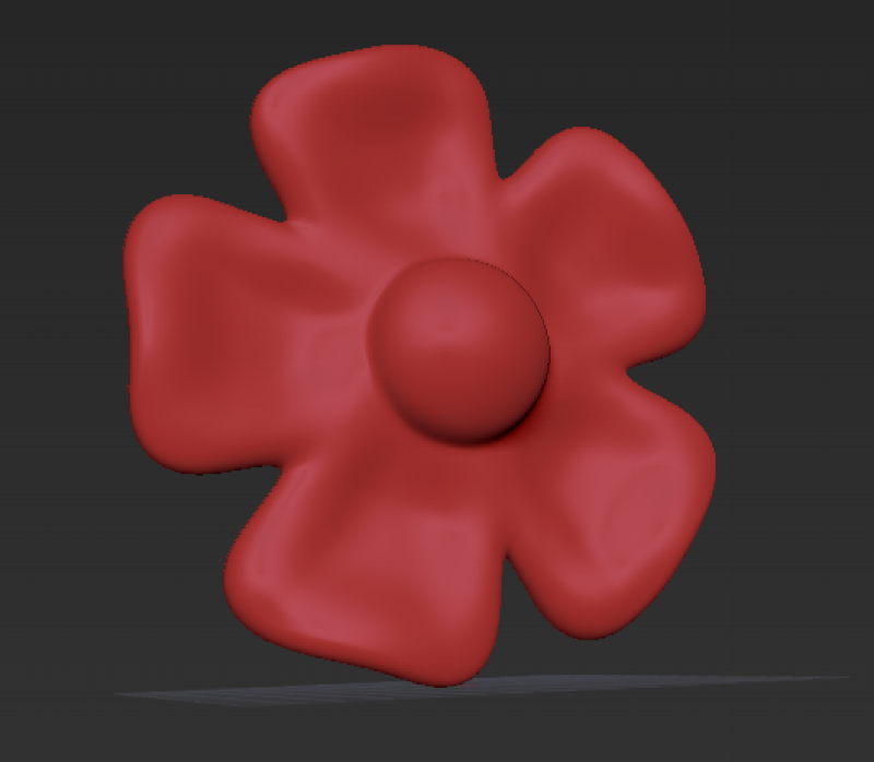 "Simple flower made in virtual ""clay"" in ZBrush"