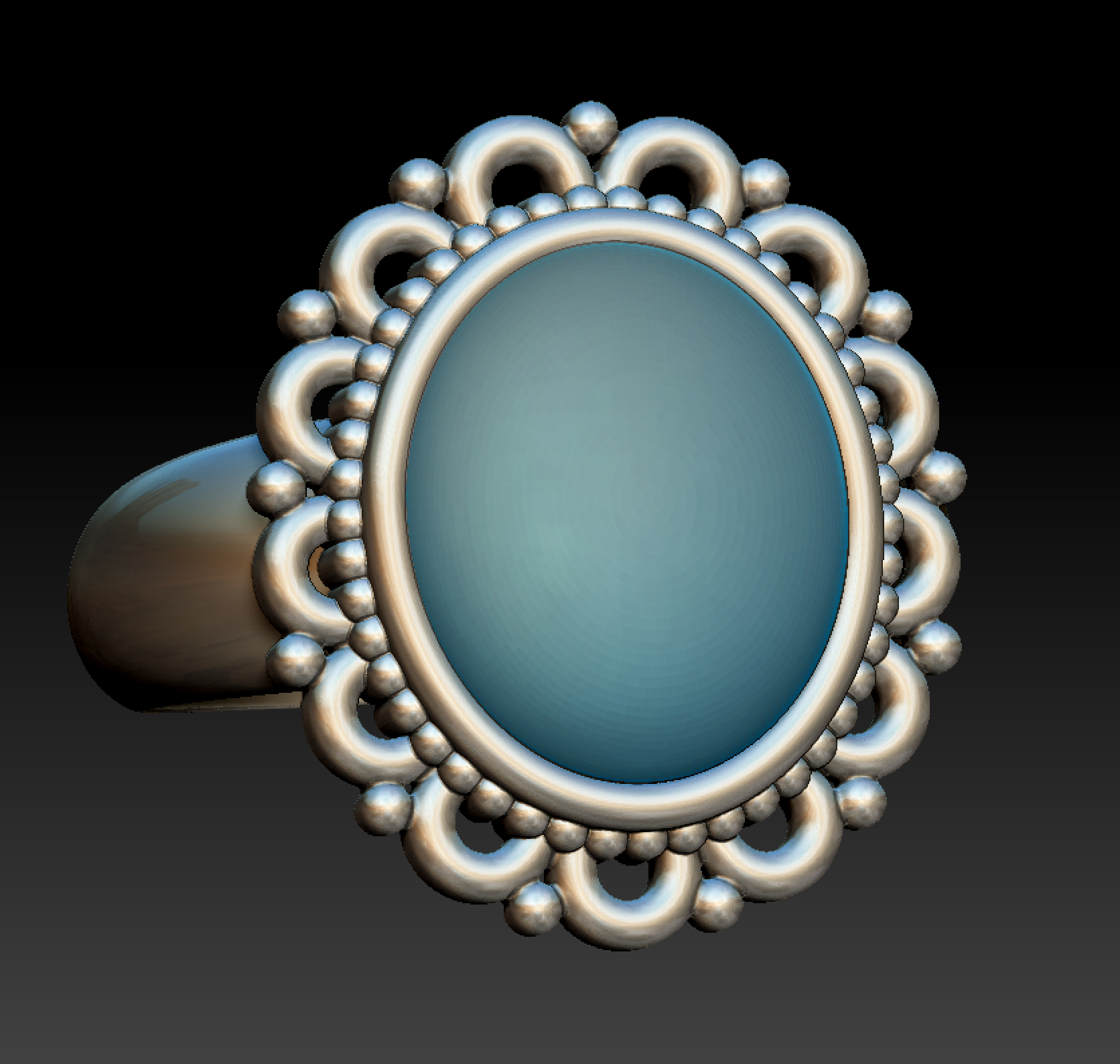 Ring rendered in ZBrush