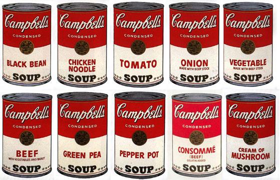 Sunday B. Morning Portfolio of 10, Soup Cans, c. 1980. Screenprint