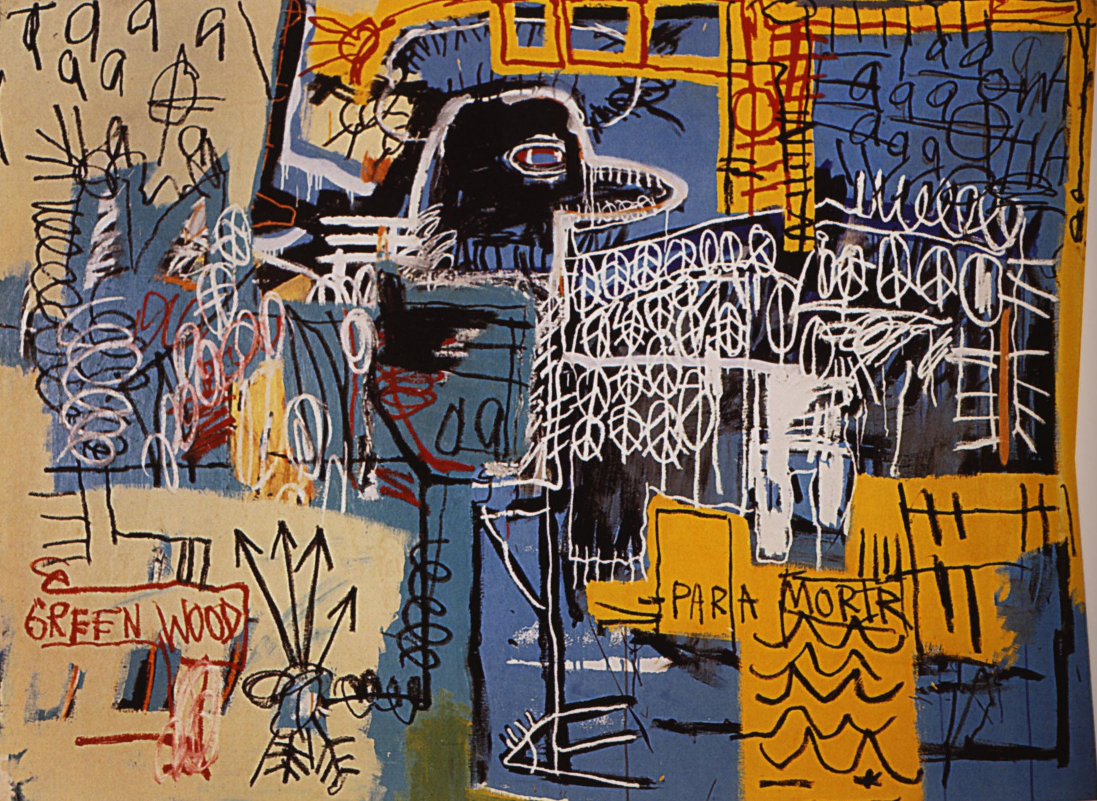Jean-Michael Basquiat, Bird on Money 1981, acrylic and crayon on canvas