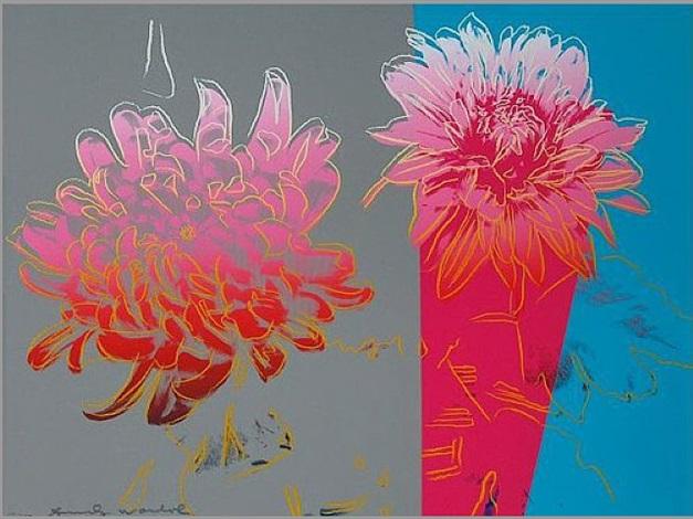 Andy Warhol,  Kiku Flower FS308, 1970,  Lithographic print
