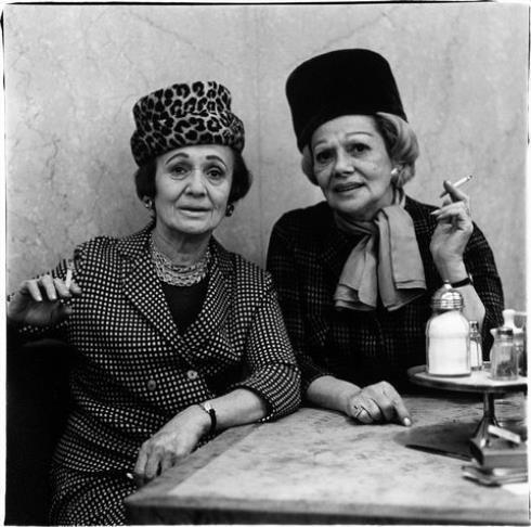 Diane Arbus,  Two Ladies at the Automat (New York City) , 1966, Gelatin silver print printed by Neil Selkirk, 1977 or 1/77?