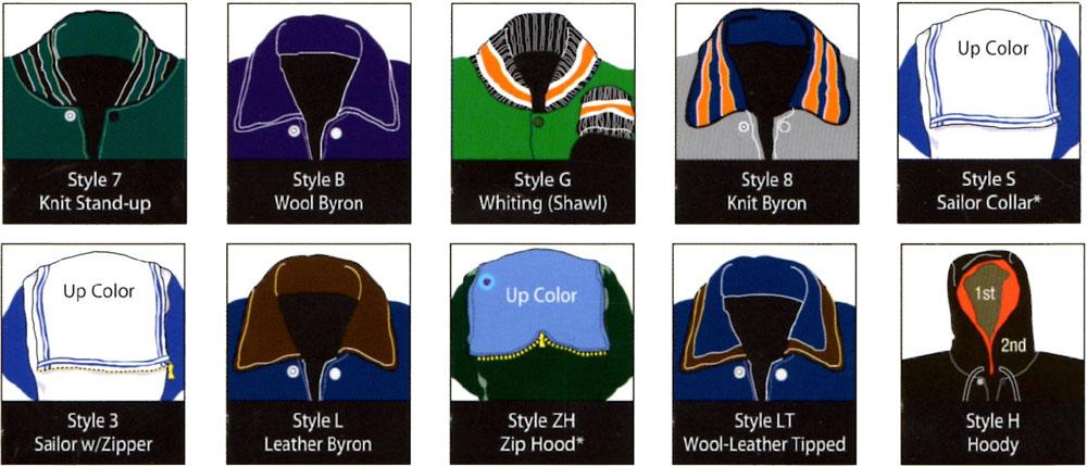 Lettermen Jacket Collar Styles