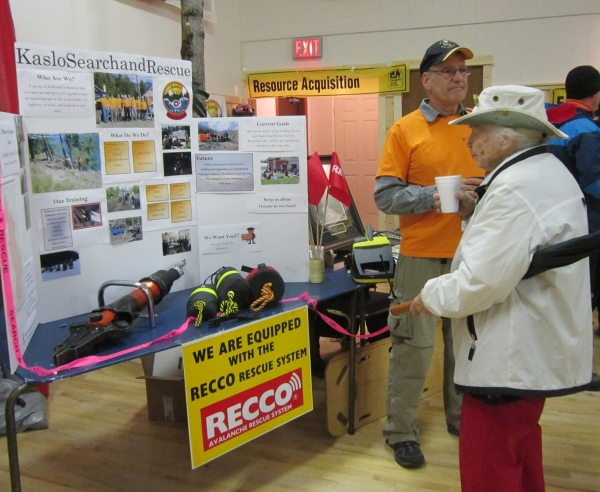 Kaslo SAR volunteer at OHELP event booth, March 2016.