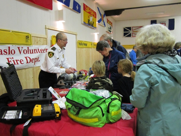 Kaslo Volunteer Fire Department volunteer, OHELP event, March 12016.