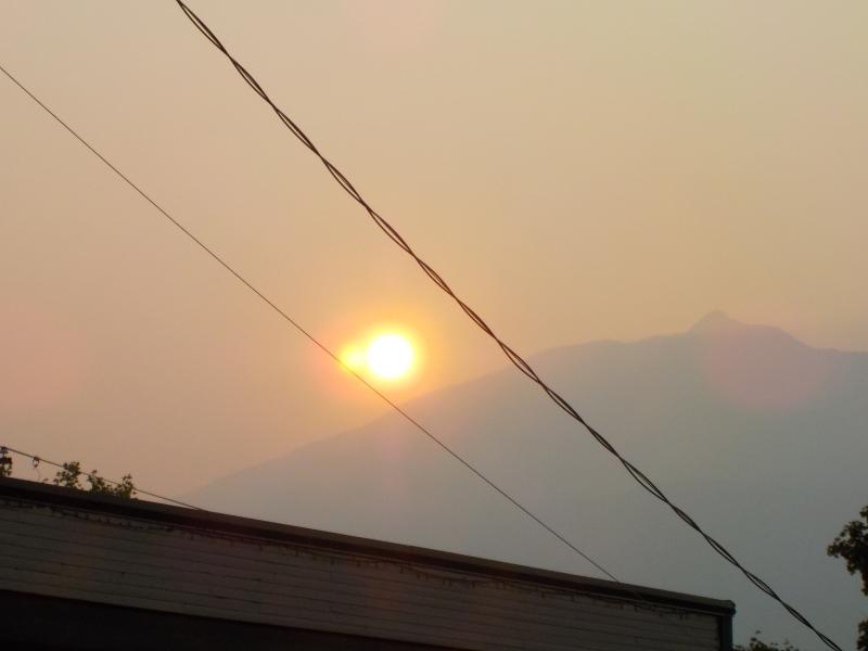 Sunrise in Kaslo Aug 2.