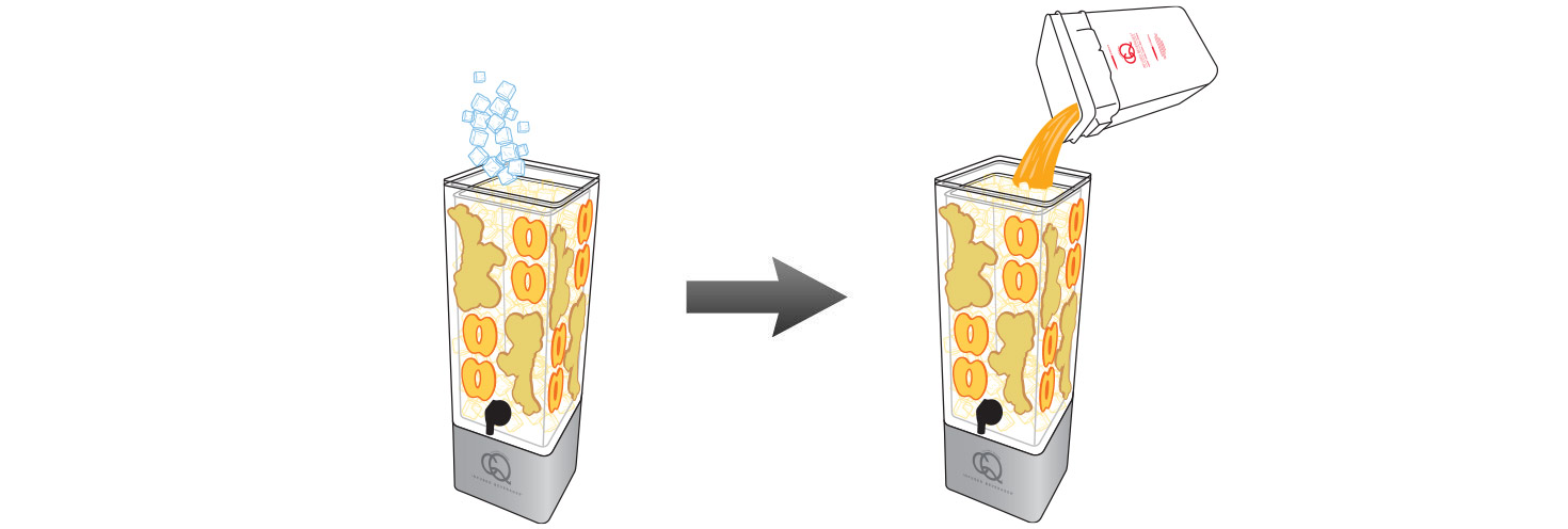 CQ-Peach-Grape-Ginger-Juice-Infusions-Recipe-Step-5-Fill-BPA-Free-Beverage-Dispenser-Peach-Grape-Ginger-Juice-Infusion