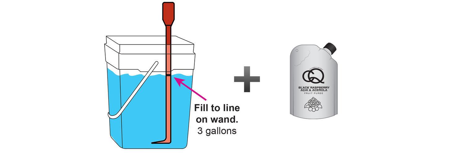 CQ-Black-Raspberry-Açaí-Orange-Infused-Water-Recipe-Step-3-Fill-CQ-Mixing-Bucket-Water-and-1-pouch-CQ-Black-Raspberry-Açaí-Orange-Puree.jpg