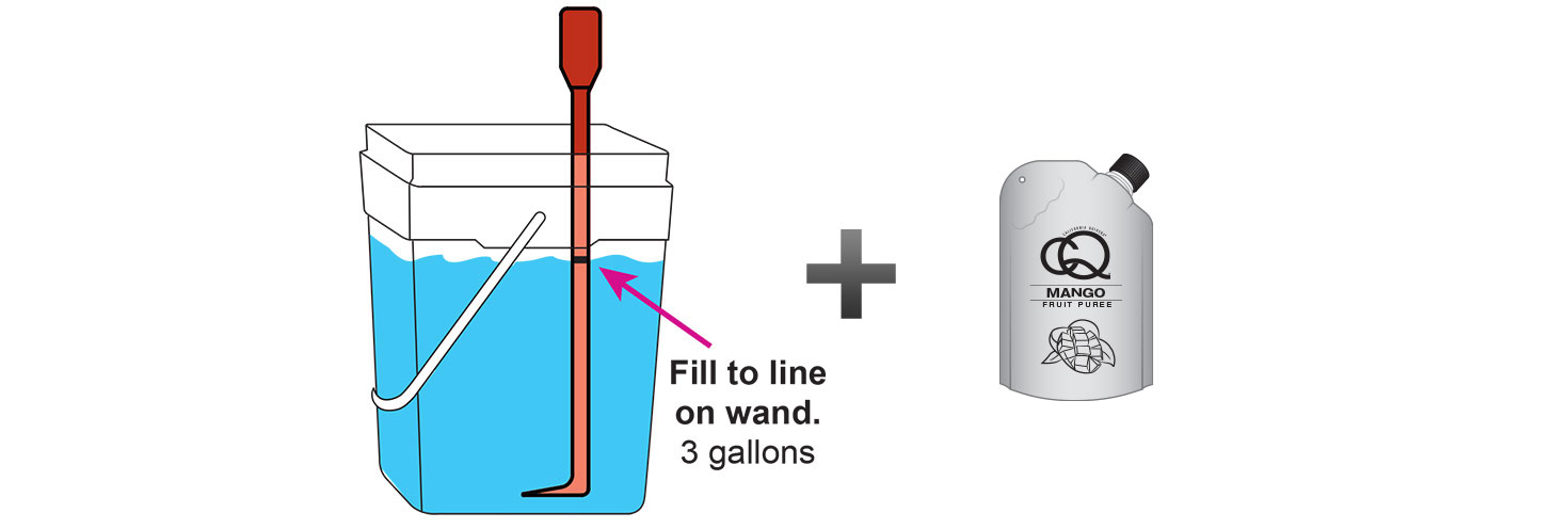 CQ-MANGO-ORANGE-Infused-Water-Recipe-Step-3-Fill-CQ-Mixing-Bucket-Water-and-1-pouch-CQ-MANGO-ORANGE-Puree.jpg