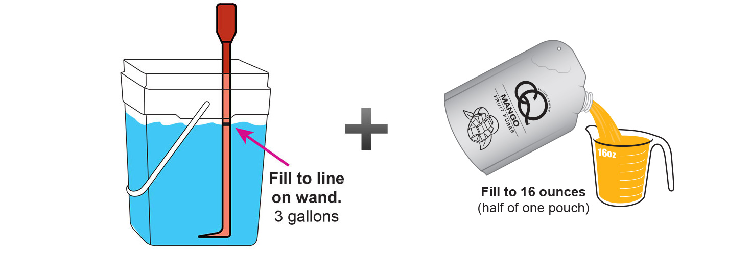 CQ-Mango-Orange-Spa-Water-Recipe-Step-3-Fill-CQ-Mixing-Bucket-Water-and-1-pouch-CQ-MANGO-ORANGE-Puree.jpg