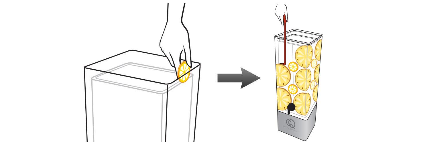 CQ-Lemon-Pineapple-Iced-Tea-Recipe-Step-2-Add-Fruit-Into-BPA-Free-Infusion-Jar