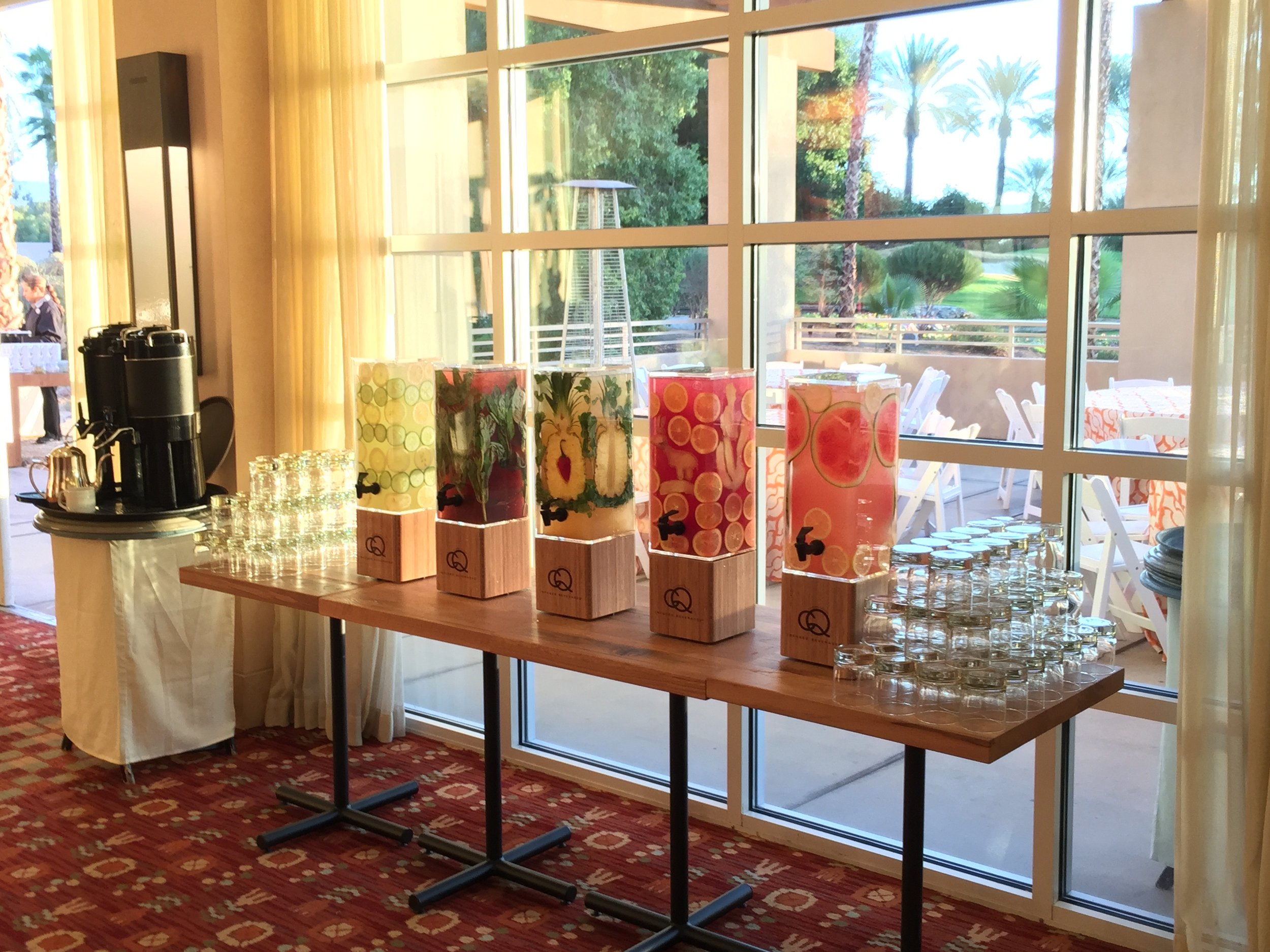 CQ Infused Waters at Hyatt's Owners Meeting - Hyatt Regency Indian Wells, California