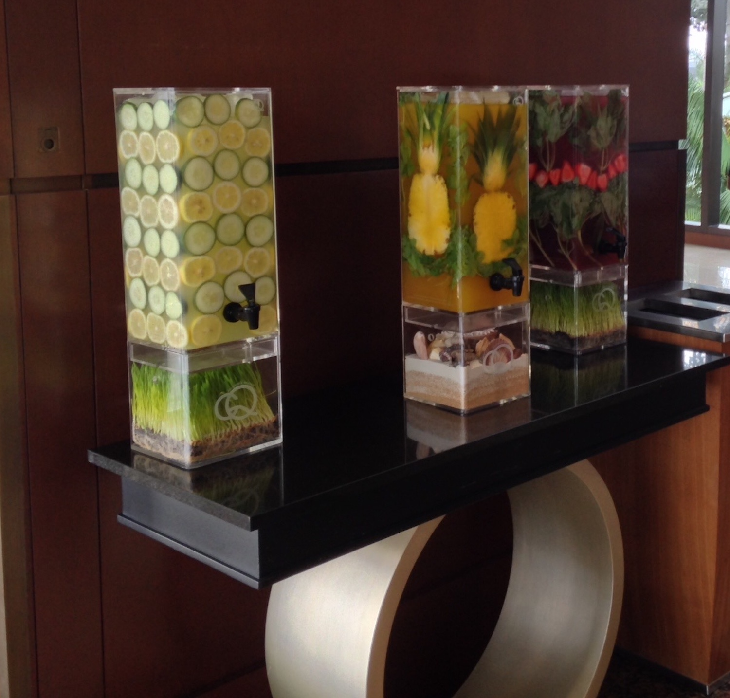 CQ Pineapple Mint Mango and Lemon Cucumber - San Diego Marriott Elite Check-In
