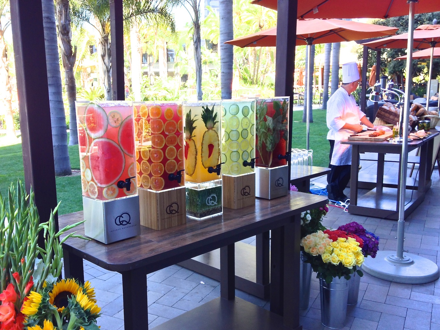 Infused Water Station at the Marriott Marquis San Diego Marina