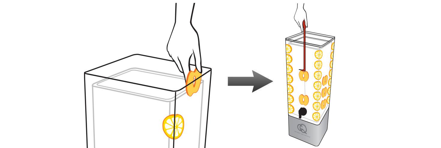 CQ-Peach-Lemon-Lemonade-Recipe-Step-2-Add-Fruit-Into-BPA-Free-Infusion-Jar