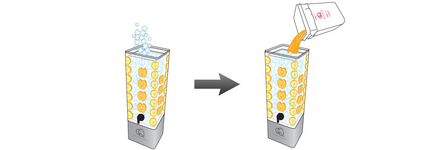 CQ-Peach-Lemon-Lemonade-Recipe-Step-5-Fill-BPA-Free-Beverage-Dispenser-Peach-Pineapple-Kiwi-Infused-Water