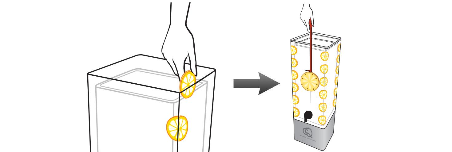 CQ-Lemon-Cinnamon-Pineapple-Juice-Infusions-Recipe-Step-2-Add-Fruit-Into-BPA-Free-Infusion-Jar