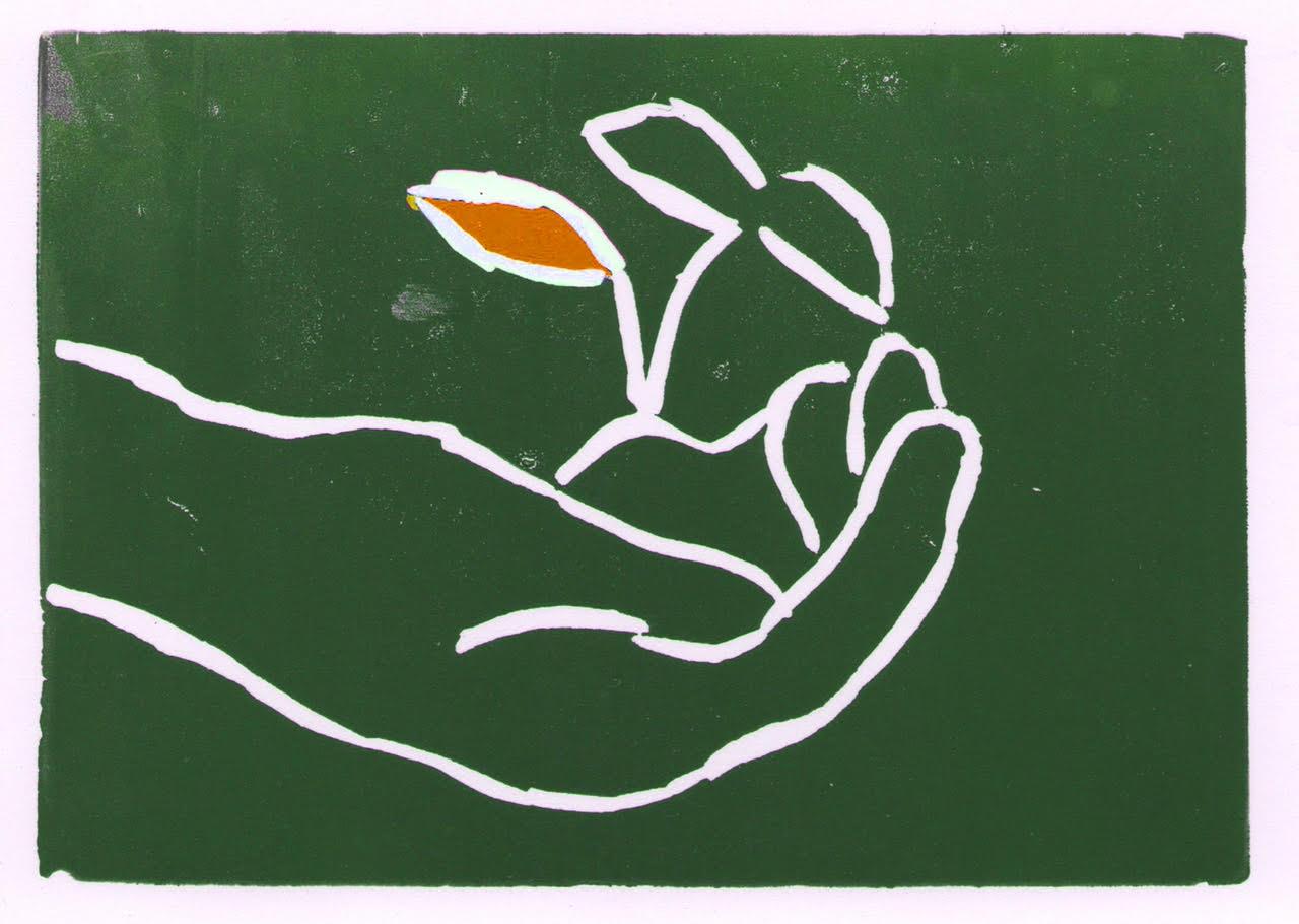 Block print by Augden Hayes, 2014.