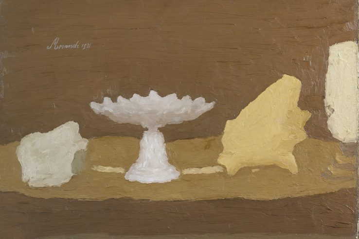 Giorgio Morandi, Still Life, 1931, Oil on Canvas, 54x64 cm @2015 Artists Rights Society (ARS), New York / SIAE, Rome. Reproduction, including downloading of Giorgio Morandi works, is prohibited by copyright laws and international conventions without the express written permission of Artists Rights Society (ARS), New York