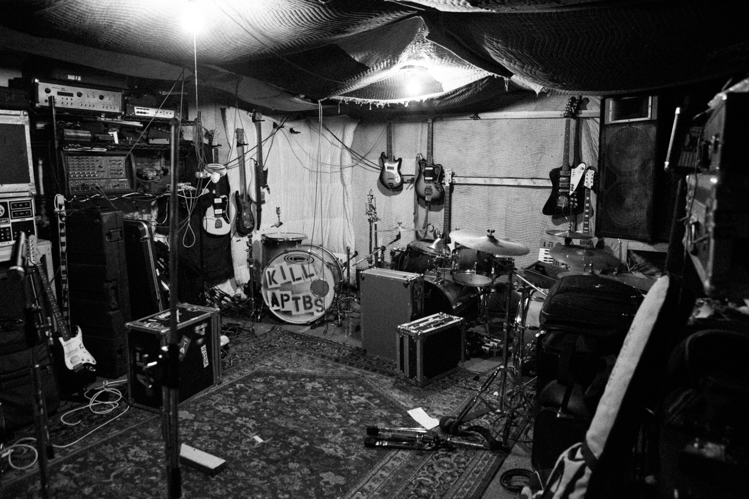 A Place To Bury Strangers recording their album Transfixiation at Death By Audio, 2013