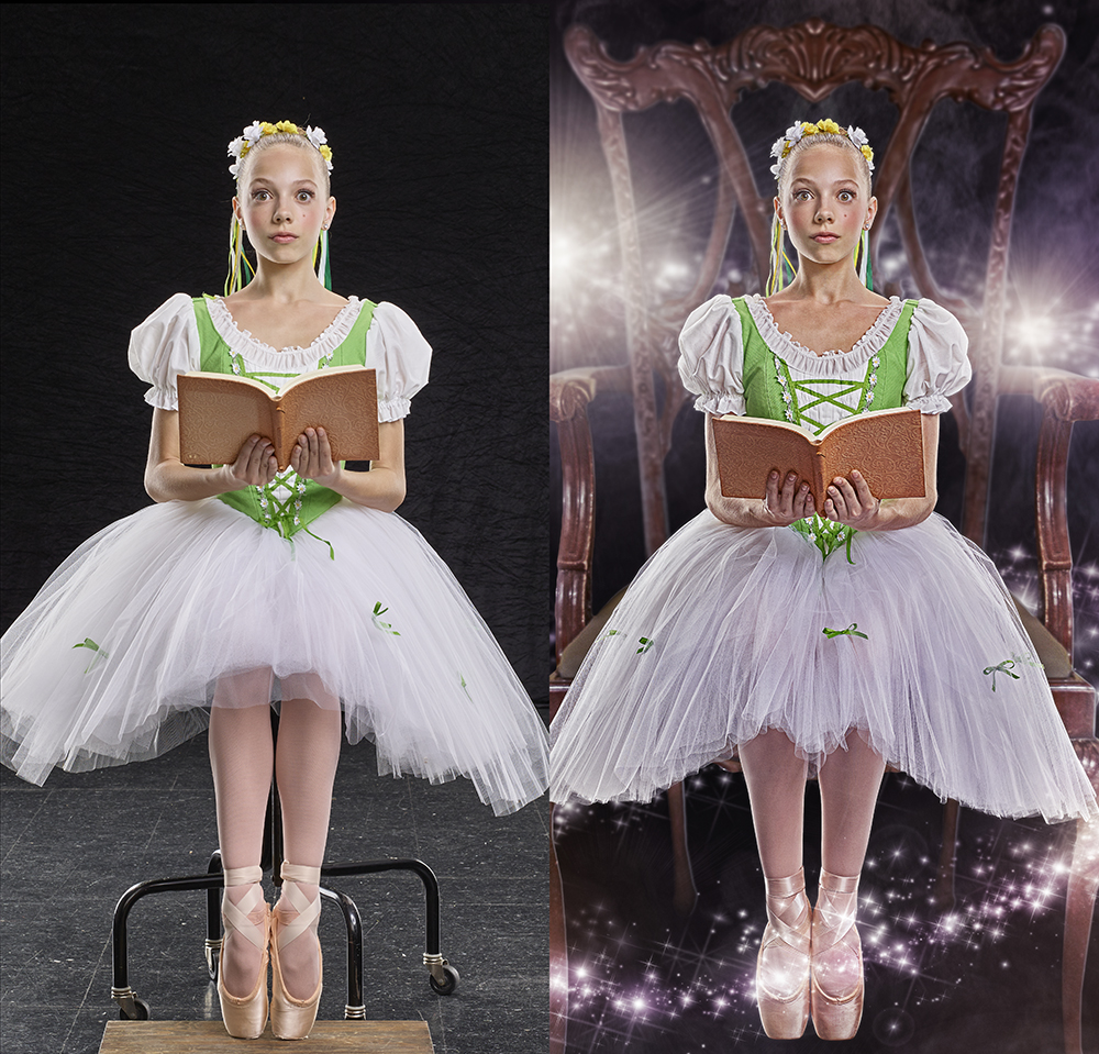 Coppélia chair before and after
