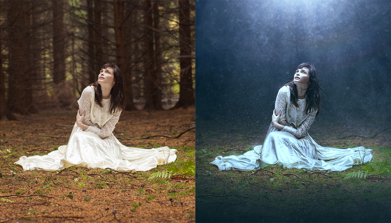 before and after Photoshopping