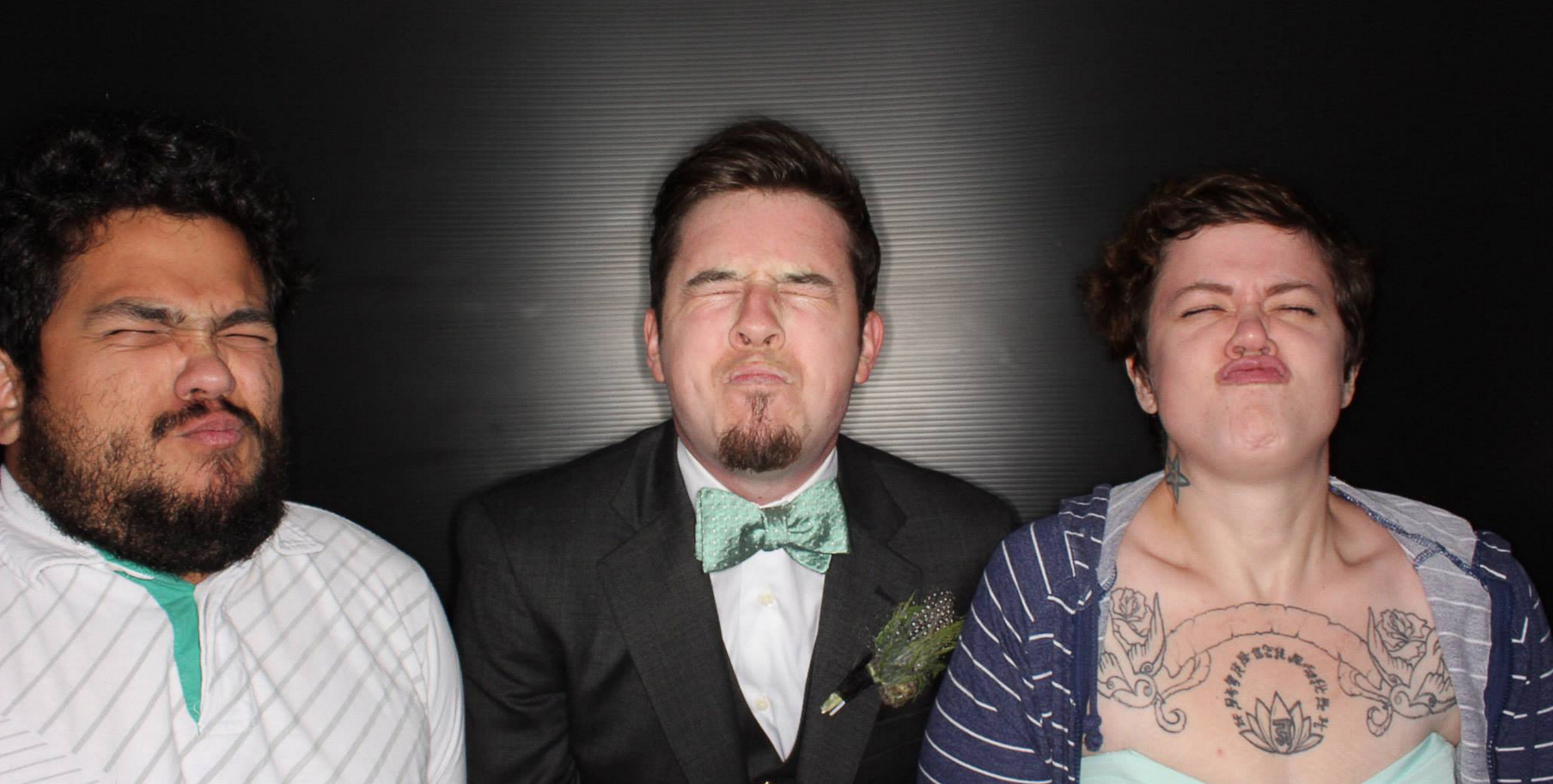 Oscar and Veronica and I looking so fresh at my wedding.