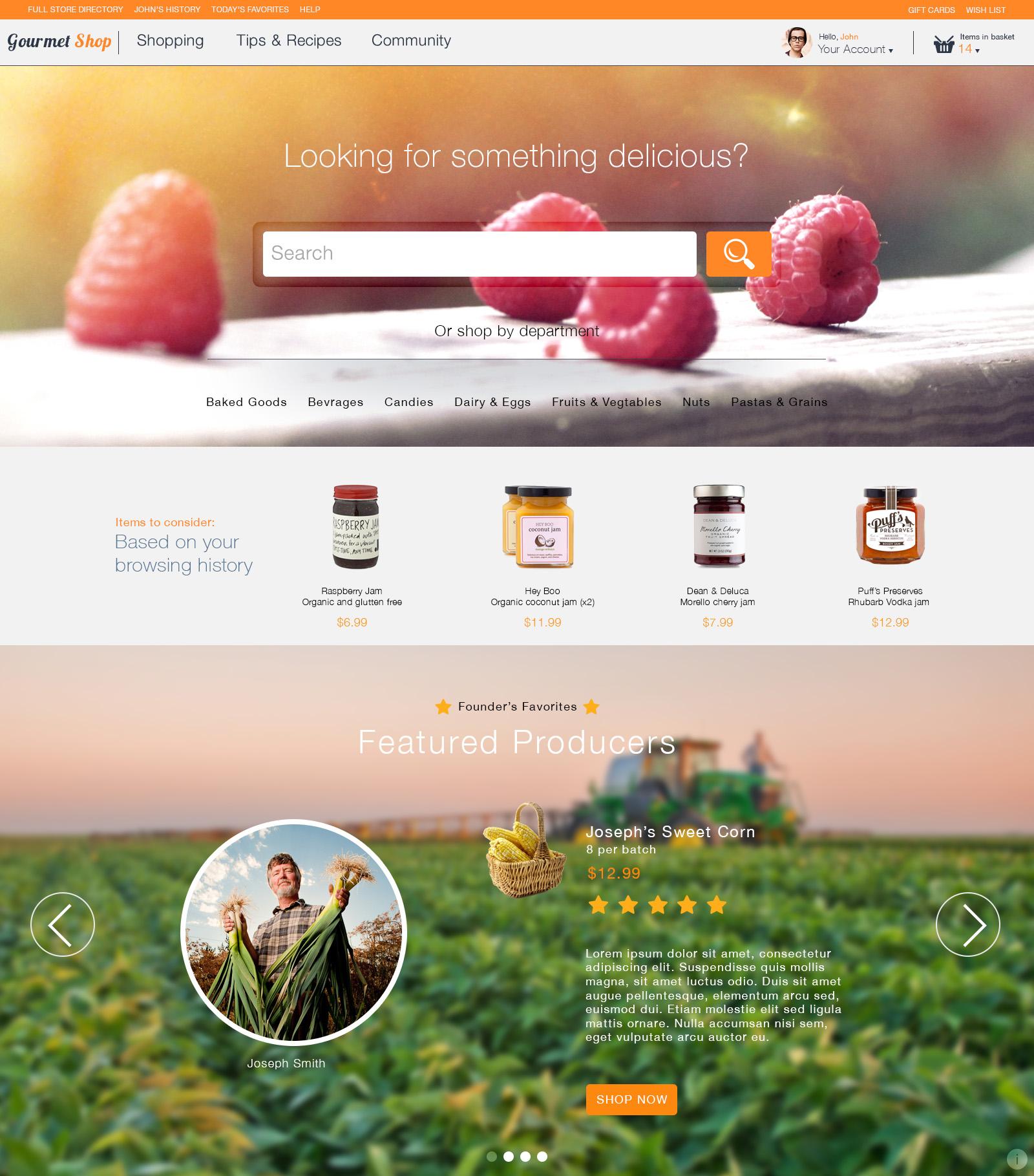 Gourmet landing page.jpg