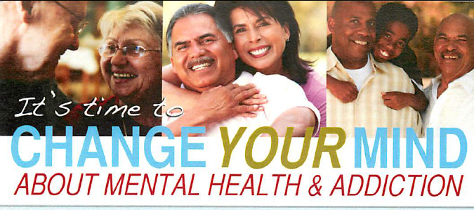 Pamphlet distributed to community to address mental health stigma