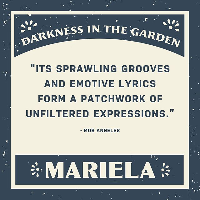 """Darkness in the Garden is a fearless EP; its sprawling grooves and emotive lyrics form a patchwork of unfiltered expressions of self from the band, and even if it isn't a full-length studio album, its six songs pack more of a punch than most of the LP tracklists that I've heard these past few weeks have by leaps and bounds."" Thanks @moblosangeles for reviewing the EP. Link in bio to the full article."