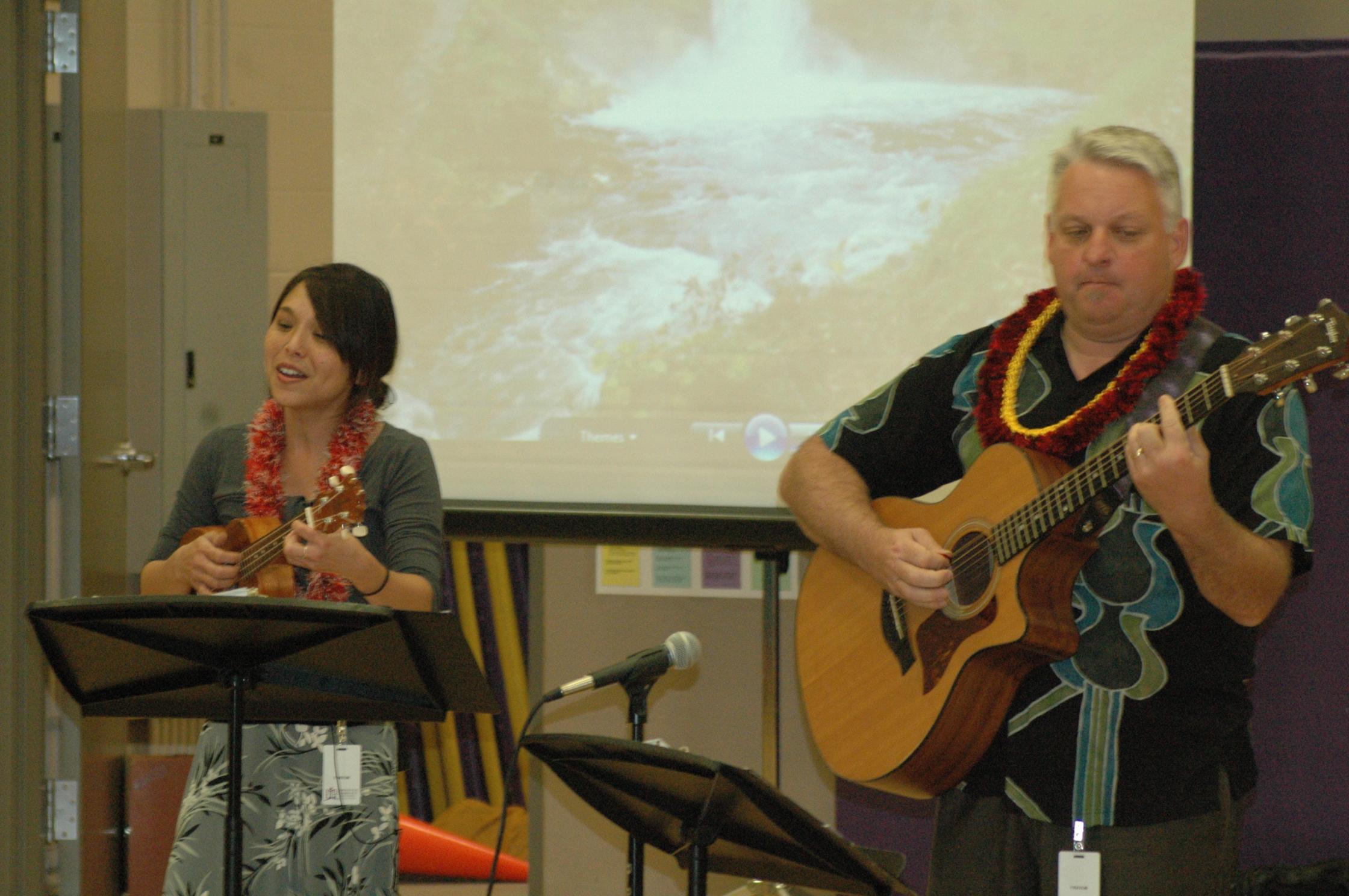 Kim Sueoka and David Burk