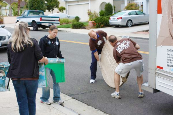 Helping local families clean up their yards