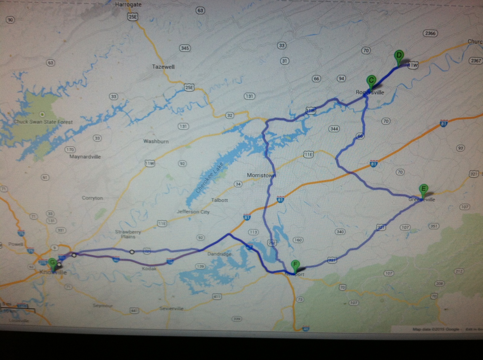 A look at our route.