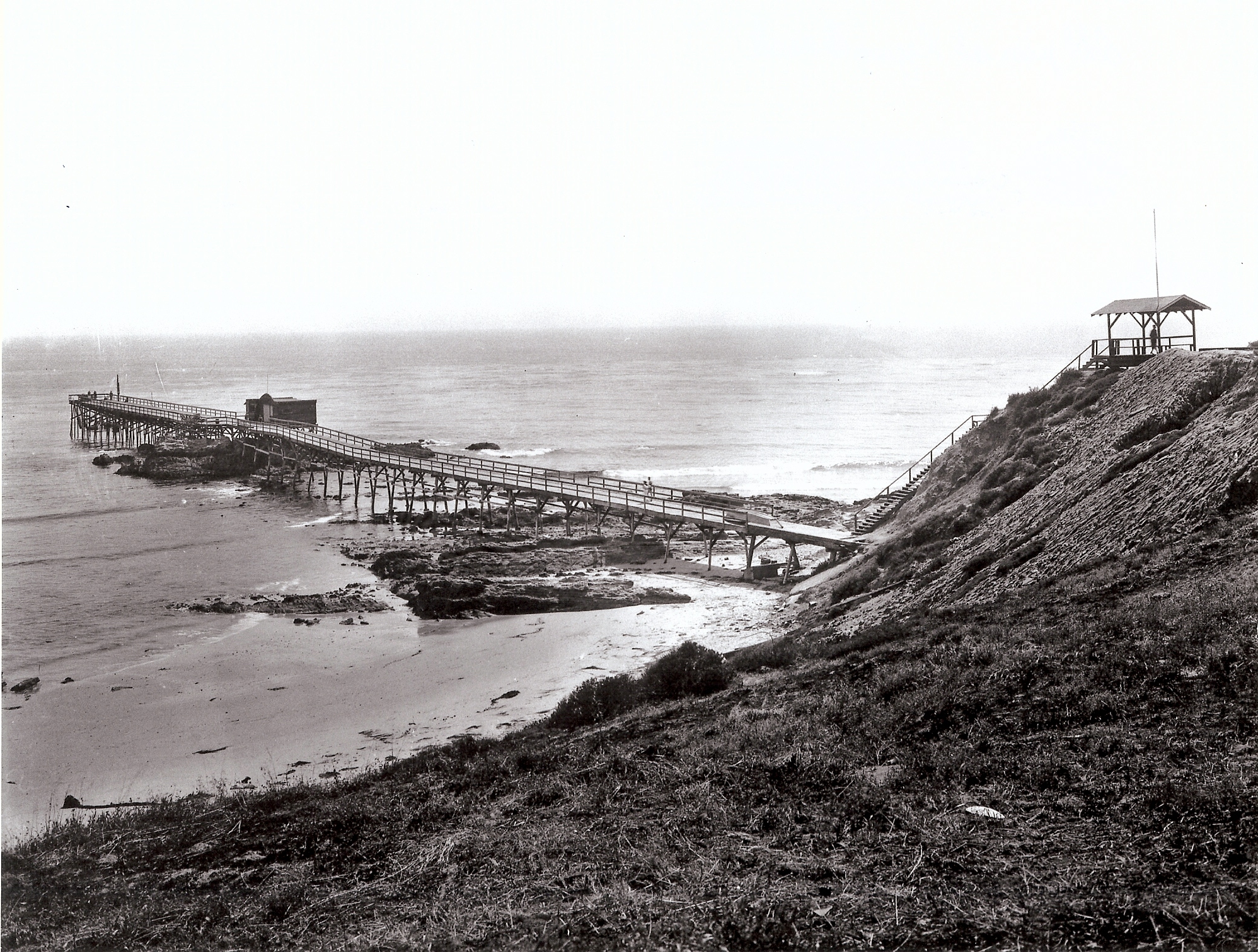 Main Beach Pier at Heisler Point  - Destroyed in 1939 Storm - 1st Am Title Collection.jpg