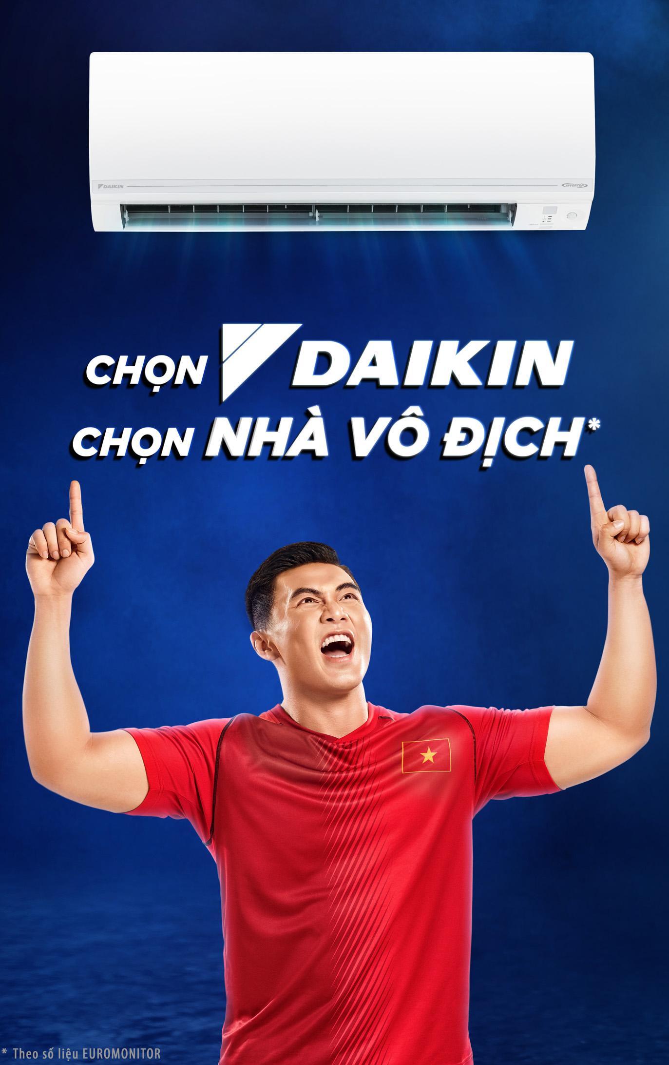 Chọn DaikinChọn Nhà vô địch - Daikin được biết đến như một chuyên gia điều hòa không khí thông qua sự đổi mới không ngừng trong công nghệ và thiết kế sản phẩm, với những đặc tính nổi bật:- Tiết kiệm điện: Giảm hóa đơn tiền điện đến 66% (Dựa trên tính toán điện năng tiêu thụ của Daikin Việt Nam).- Dẫn đầu với những công nghệ hiện đại: Hybrid Cooling, Luồng gió COANDA,..- Dịch vụ hậu mãi chuyên nghiệp, tận tình và chu đáo